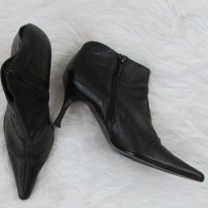 Zara Leather Pointed Toe Ankle Boots EU 36 US 6